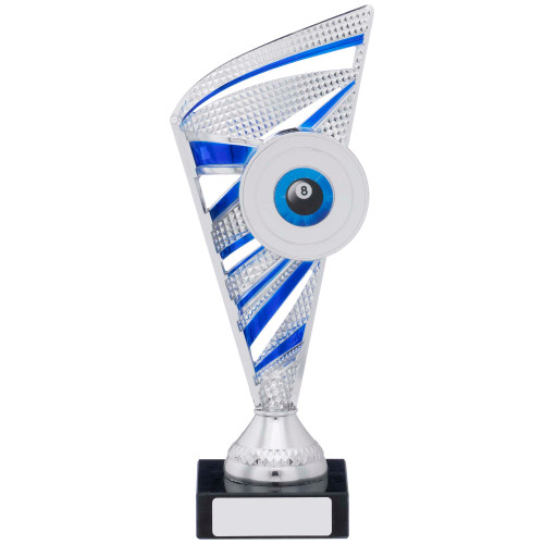 Silver & Blue Multisport Trophy includes FREE engraving