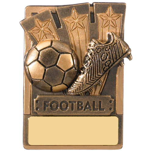 "3"" Football Magnetic Award with FREE engraving"