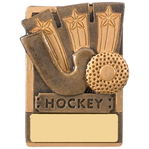 "3"" Hockey Magnetic Award with FREE engraving"