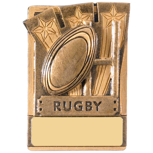 "3"" Rugby Magnetic Award with FREE engraving"