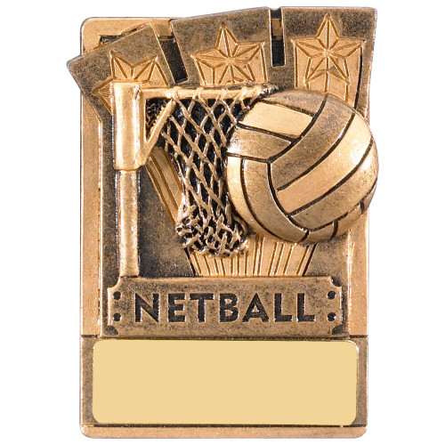 "3"" Netball Magnetic Award with FREE engraving"