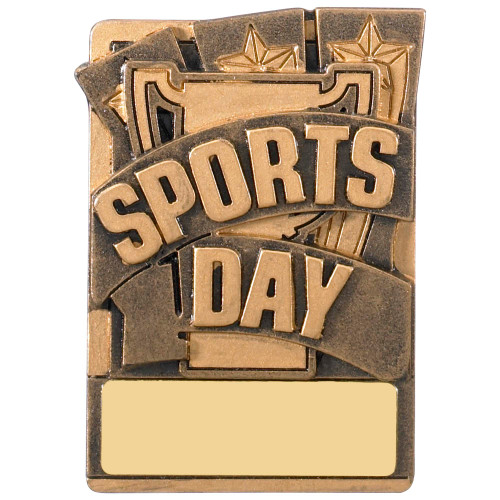 "3"" SPORTS DAY Magnetic Award with FREE engraving"
