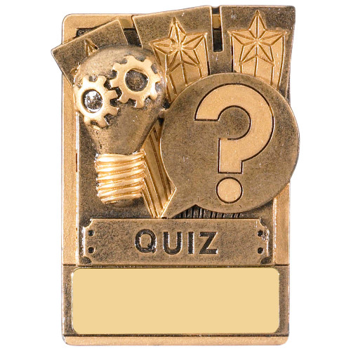 "3"" QUIZ Magnetic Award with FREE engraving"