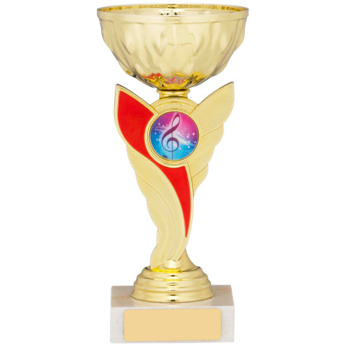 Red & Gold Multisport Cup with FREE engraving