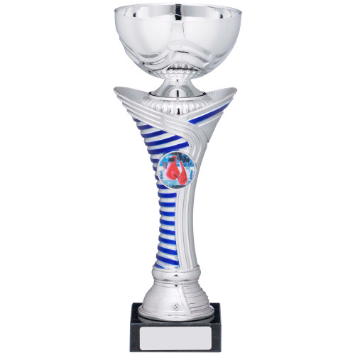 Silver & Blue Multisport Cup in 5 with FREE engraving