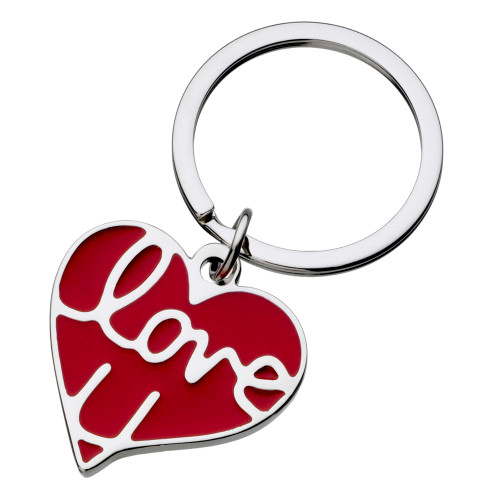 Love U Heart Keyring with FREE Engraving