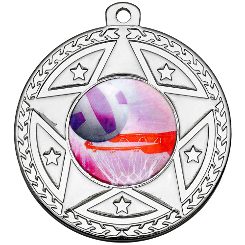 50mm Silver Multisport Star Medal Award