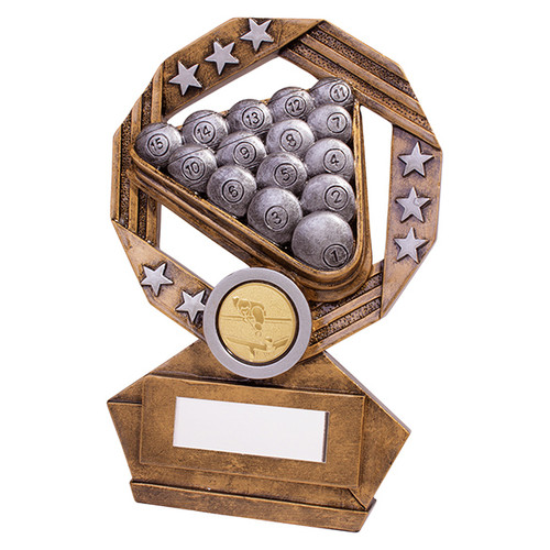 Enigma Snooker & Pool trophy in 3 sizes