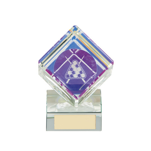 Victorious Pool Cube crystal trophy in 2 sizes
