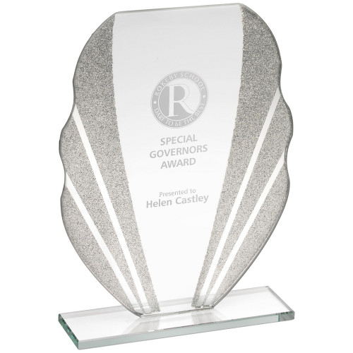 Corporate glass engraved trophy at 1stPlace4Trophies