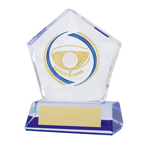 Diamond Star Longest Drive Golf Glass Trophy