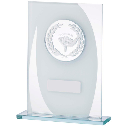 Jade Glass Longest Drive golf trophy with FREE engraving