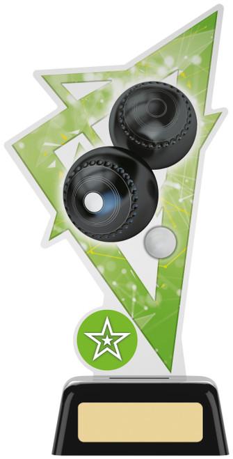 Premium acrylic lawn bowls award with FREE engraving