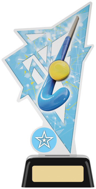Premium acrylic hockey award with FREE engraving