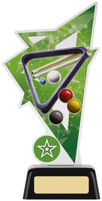 Premium acrylic snooker & pool award with FREE engraving