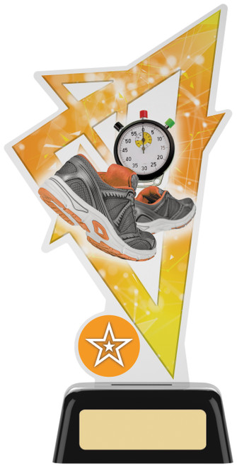 Premium acrylic athletics & running award with FREE engraving