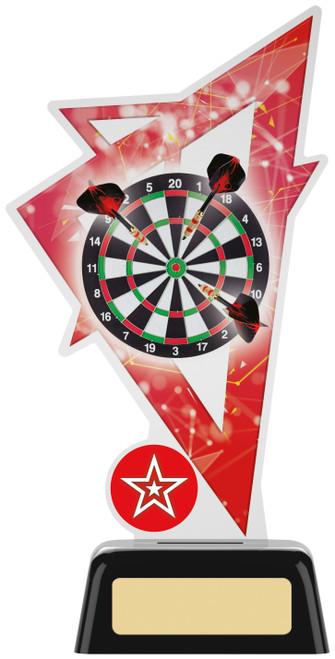 Premium acrylic darts award with FREE engraving