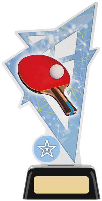 Premium acrylic table tennis award with FREE engraving
