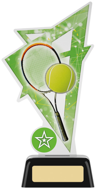 Premium acrylic tennis award with FREE engraving
