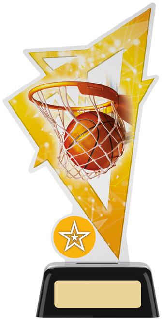 Premium acrylic basketball award with FREE engraving