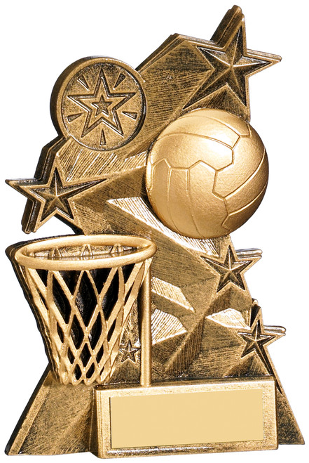 Astra Netball and hoop award in 2 sizes FREE engraving