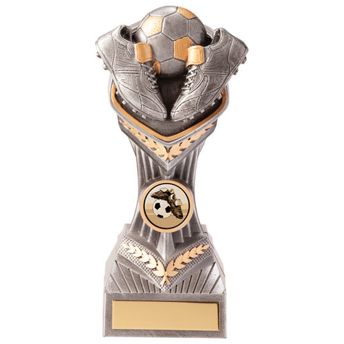 "7.5"" Falcon Football boots & ball trophy with FREE engraving"