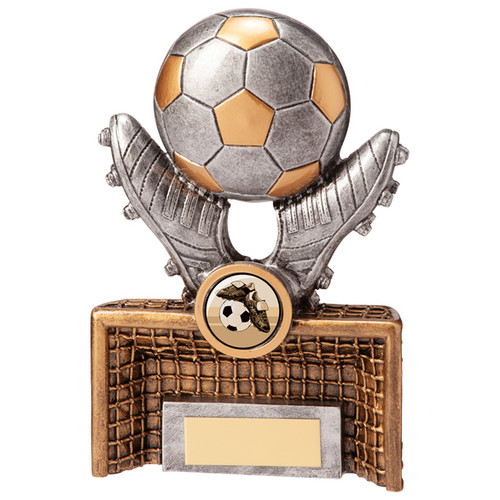 Galactico Goal Boots & Ball superb football trophy in 2 sizes