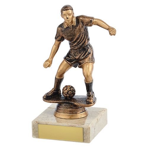 Dominion budget male football player trophy in 3 sizes