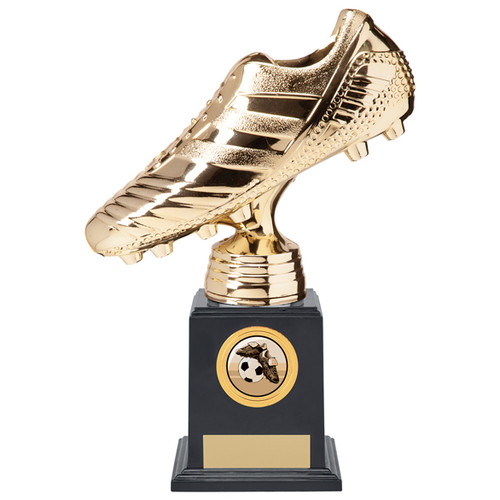"8.75"" Striker Premium Bright Gold football boot trophy"