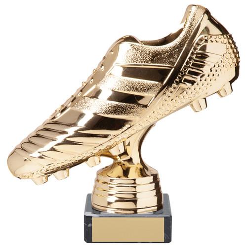 "6"" Striker Premium Bright Gold football boot trophy"