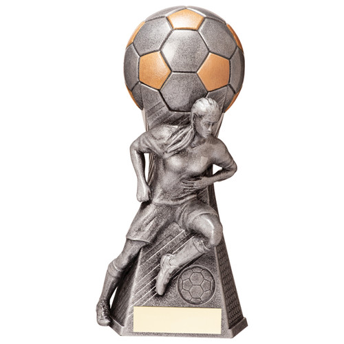 Bespoke Trailblazer female football trophy in 4 sizes FREE engraving