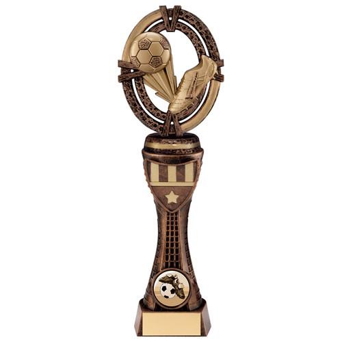 "9"" Bespoke Maverick customised football trophy"
