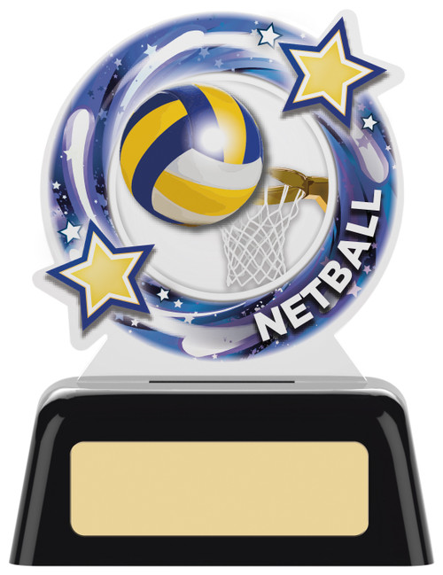 Budget acrylic netball award in 2 sizes
