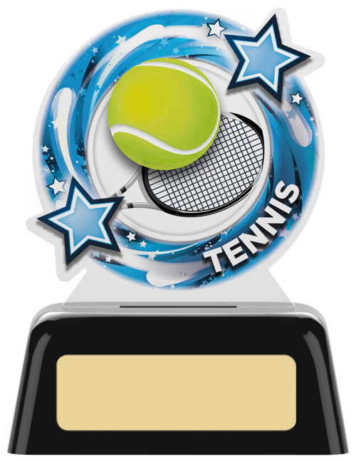 Budget acrylic tennis award in 2 sizes