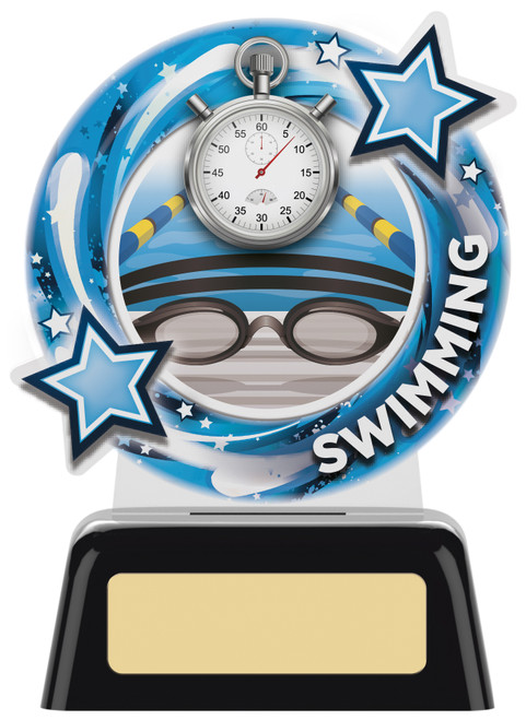 Budget acrylic swimming award in 2 sizes