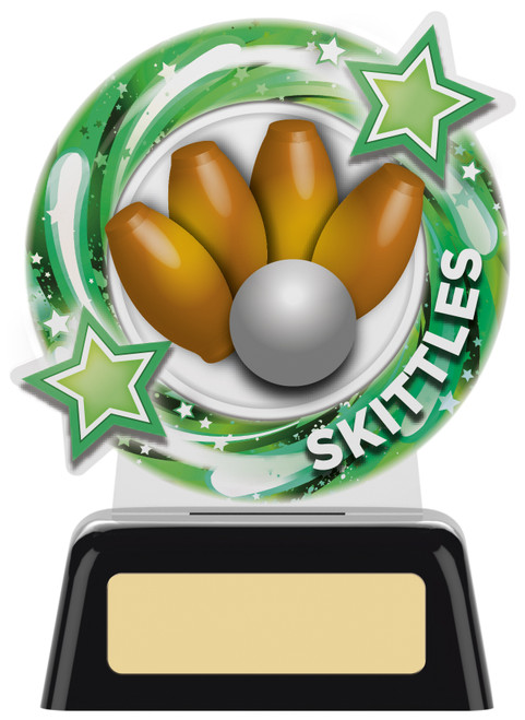 Budget acrylic skittles award in 2 sizes