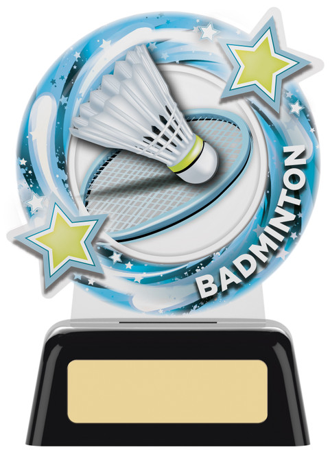 Budget acrylic badminton award in 2 sizes
