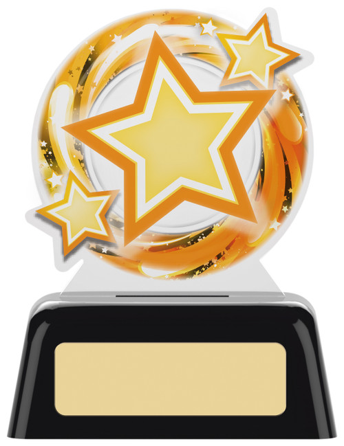 Budget acrylic star achievement award in 2 sizes