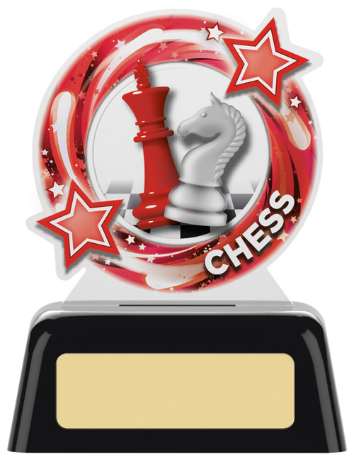 Budget acrylic Chess award with FREE engraving