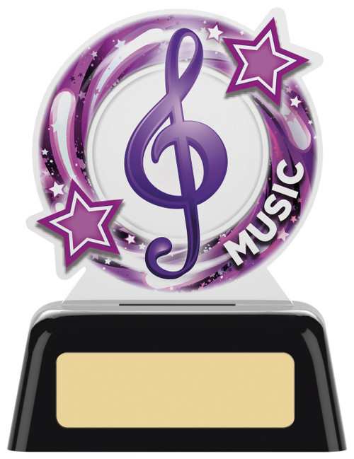 Budget acrylic Music award with FREE engraving