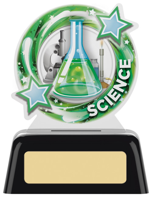 Budget acrylic Science award with FREE engraving
