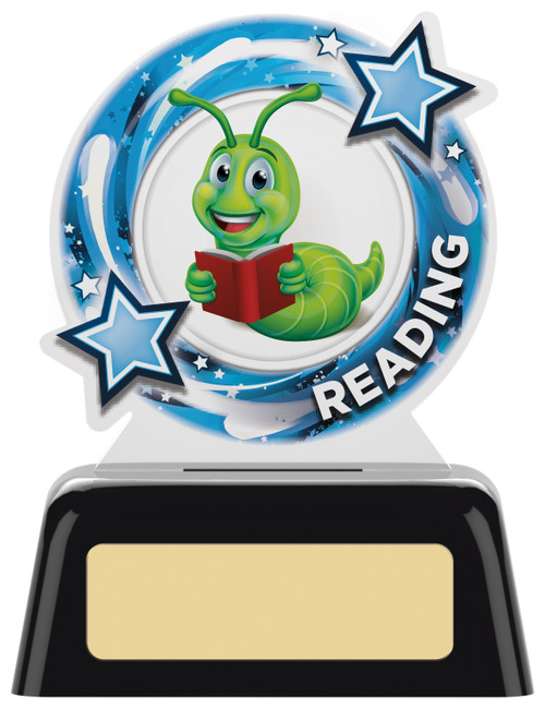Budget acrylic Reading award with FREE engraving