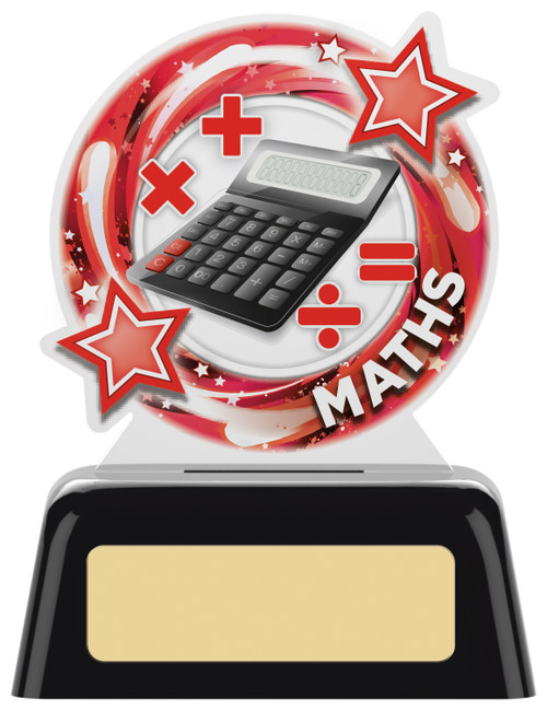 Budget acrylic Maths award with FREE engraving