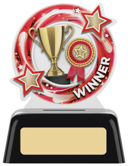 Budget acrylic Winner award with FREE engraving