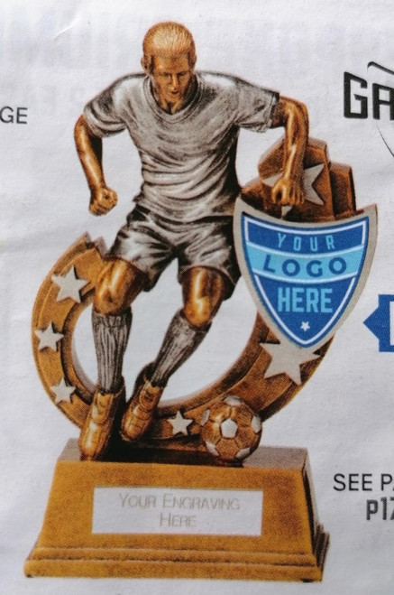 Customised logos available for this trophy (pic for illustration purposes)