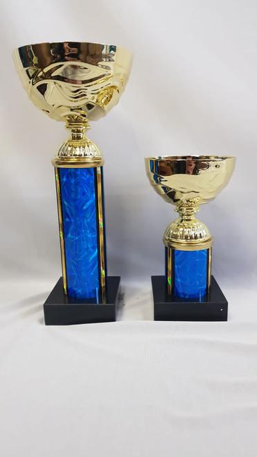 Blue Column Gold Trophies