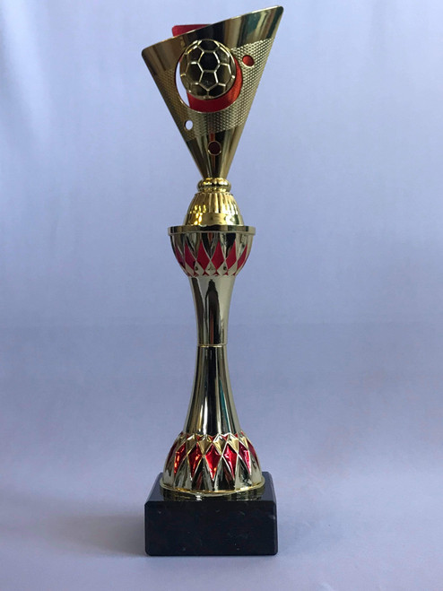 Red and Gold Football Trophy