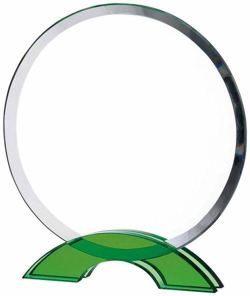CIRCULAR GLASS WITH GREEN BASE AWARD