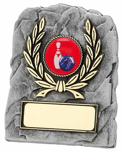 Stone effect laurel economy plaque award for any sport or activity