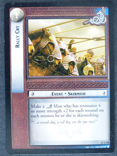 Rally Cry 11 S 150 - played - LotR Cards #WB